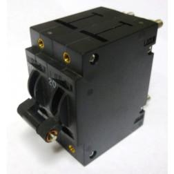 W92X1039-20 Circuit Breaker, 2 Pole, 20 amp, P & B