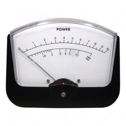 PM10 Panel Meter, 0-10 Watts with SWR meter, Large Face.