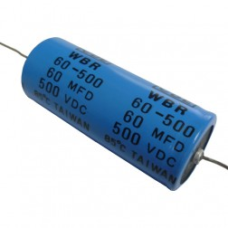 WBR60-500 Electrolytic Capacitor, 60 uf 500v, Axial Lead, CDE