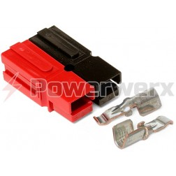 WP45-10  45 Amp Permanently Bonded Red/Black Anderson Powerpole (10 sets)