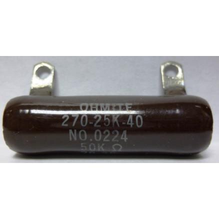 0224-50K  Wirewound Resistor, 50k ohms 25 watts, Ohmite