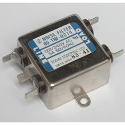 05-TNF-0214  Noise Filter, 5 amp, 120/240v,