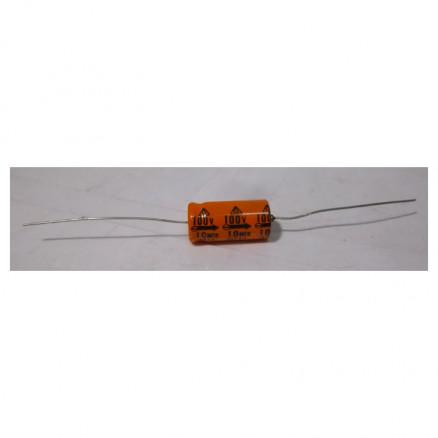10-100 Capacitor, elec. 10uf 100v, Axial  SS