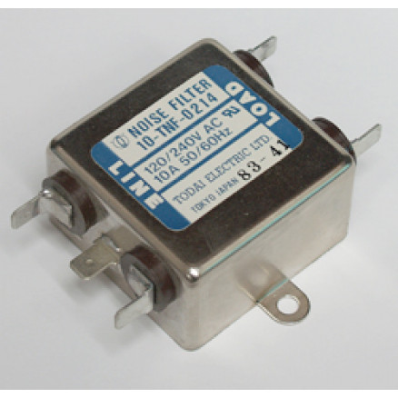 10-TNF-0214  Noise Filter, 10amp, 120/240vac,Todai elec