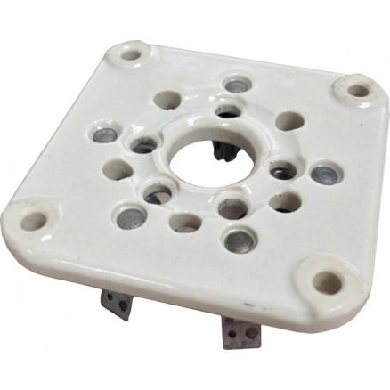 122-275-001  Tube Socket, Ceramic, 5 Pin, 3-500Z, 4-400A, 275 Johnson (NOS)