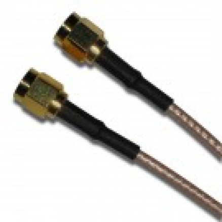 135101-01-18 Pre-Made Cable assembly, 18 inch RG316 with SMA Male, Amphenol