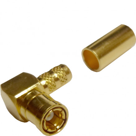 142206  SMB Male Crimp Connector, Right Angle, Cable Group C, Amphenol