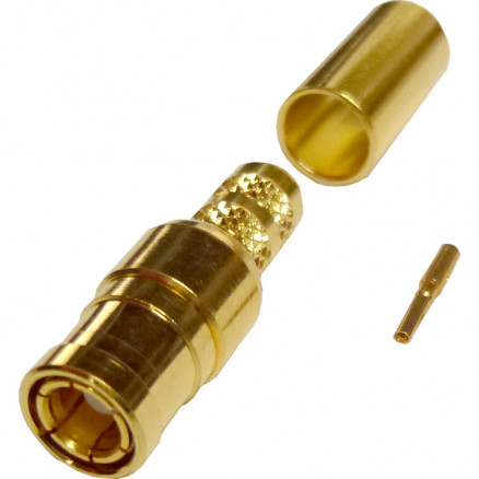 142255  SMB Male Crimp Connector, Straight, Cable Group C,  Amphenol