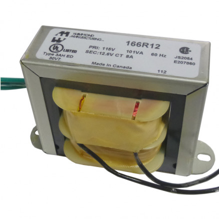 166R12 Transformer 12.6vct at 8a, Hammond
