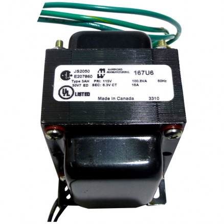 167U6 Transformer 6.3vct at 16a, Hammond