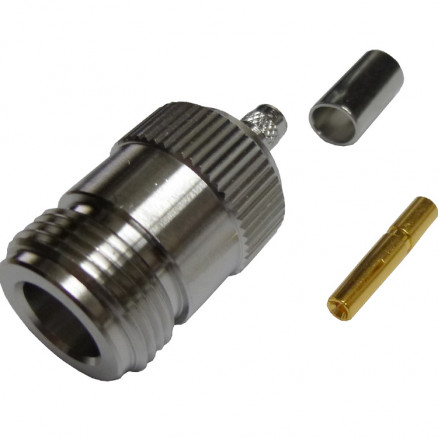 172103  Type N Female Crimp Connector, Cable Group C, Amphenol