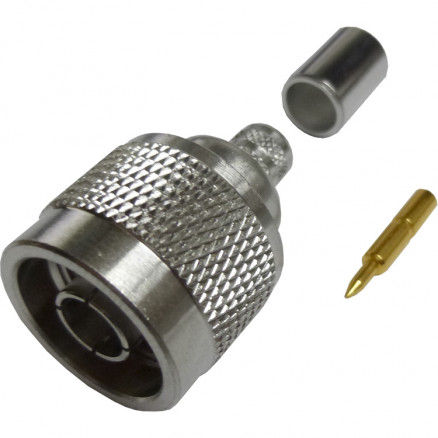 172202  Type-N Male Crimp Connector, Cable Group Q, 50 ohm, Amphenol