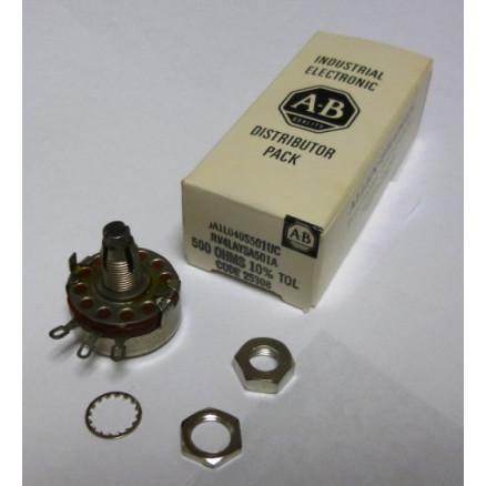 18-5001-02 Potentiometer, 500 ohm, 4 watt, (RV4LAYSA501A) Pride