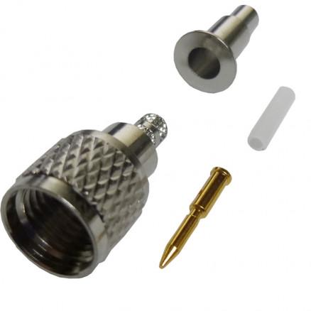 182118  Mini-UHF Male Crimp Connector, Cable Group B, Amphenol