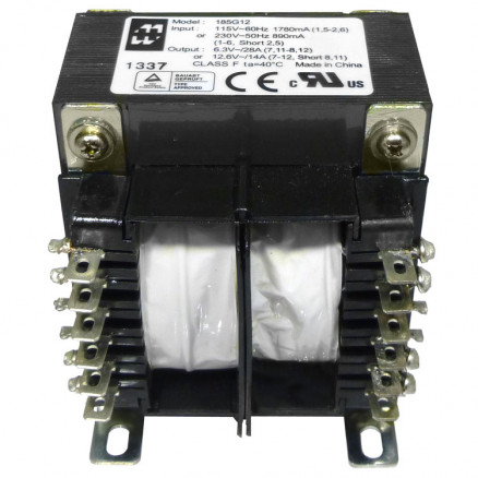 185G12 Transformer 12.6vct at 14a  or 6.3 at 28a, Hammond