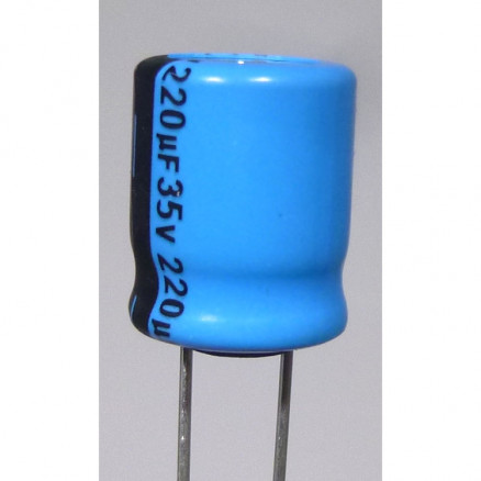 IC220-35 Capacitor, 220 uf 35v, Radial,  IC