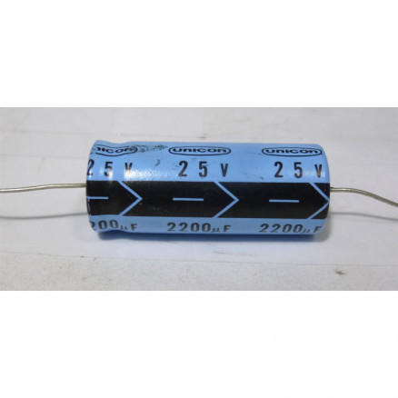 2200-25A Capacitor, Electrolytic, Axial Lead, 2200 uf 25v, TI