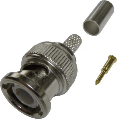 225395-2 BNC Male Crimp Connector, 75 Ohm, Amp