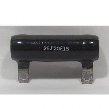25/20F15  Wirewound Resistor, 15 ohms 25 watts. Ward Leonard