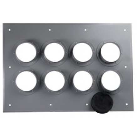 "252138  I-Line 8-Port (2x4) Wall Entry Panel with 4"" Diameter Holes.  Andrew"