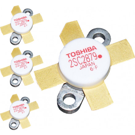 "2SC2879A  Matched Set of 4 ""Red Dot"" RoHS compliant Toshiba Transistors"
