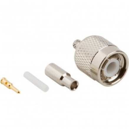 31-2315-RFX TNC Male Crimp Connector, Straight, Knurled Nut (Commercial Grade)