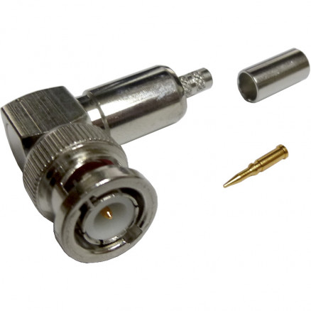 31-335-RFX  BNC Male Crimp Connector, Right Angle, Cable Group C, Amphenol