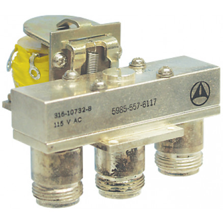 316-10732-8 Coaxial relay, SPDT 3 Type-N (F), 115vac, Amphenol