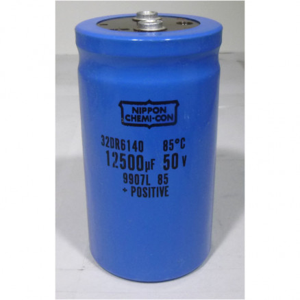 32DR6140 Electrolytic Capacitor, 12500uf 50v, Computer Grade, Nippon Chemicon