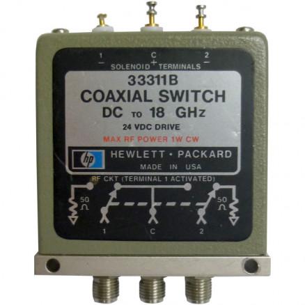 33311B Coaxial Switch, DC to 18 GHz, SMA, Hewlett Packard