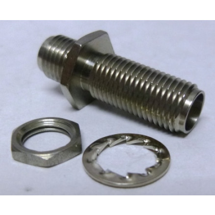 34SMA-50-0-51 SMA IN Series Adapter, Female to Female Bulkhead, Huber Suhner