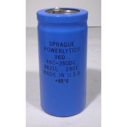 36D461F350 Capacitor 460 uf 350v can, Computer Grade. Sprague