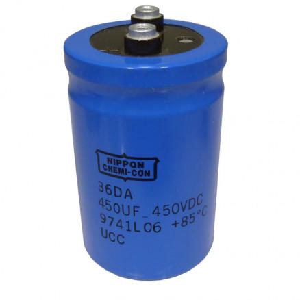 36DA450-450 Capacitor, 450uf 450v, Computer Grade.  Chemicon