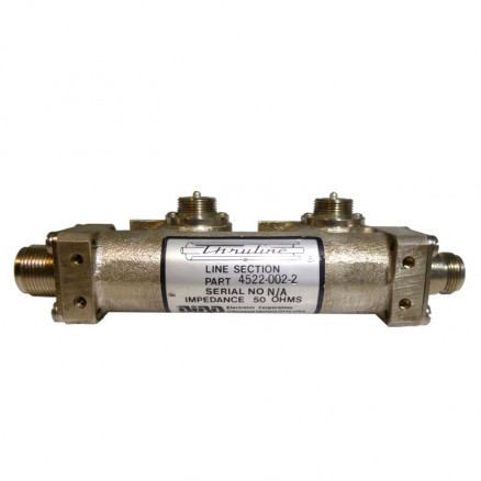 4522-002-2  Dual Line Section, W/ HN Female & Type-N Female connectors, Clean Used Conditon.
