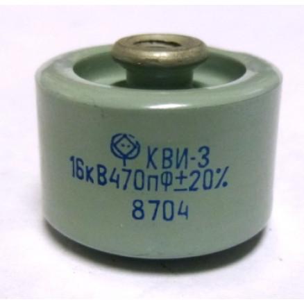 470-16 Doorknob Capacitor, 470pf 16kv, Radio Komponent