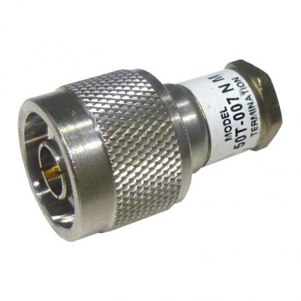 50T-007N Dummy Load, Type-N Male, 1 Watt, DC-8 GHz, JFW