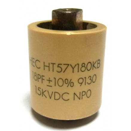 570018-15P  Doorknob Capacitor, 18pf 15kv,  High Energy (Clean Pullout)