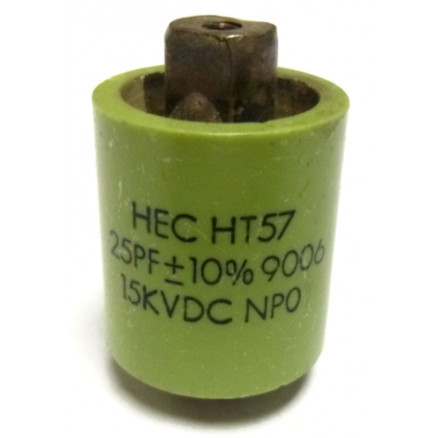570025-15P-10 Doorknob Capacitor, 25pf 15kv (Clean Used) 10%