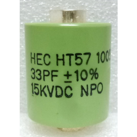 570033-15 Doorknob Capacitor, 33pf 15kv,  High Energy