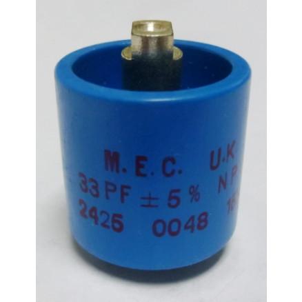 570033-15P Doorknob Capacitor,  33pf 15kv (Clean Used)