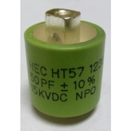 570050-15 Doorknob Capacitor, 50pf 15kv,  High Energy