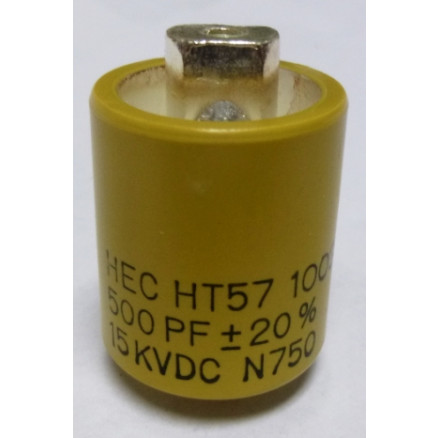 570500-15 Doorknob Capacitor, 500pf 15kv, High Energy