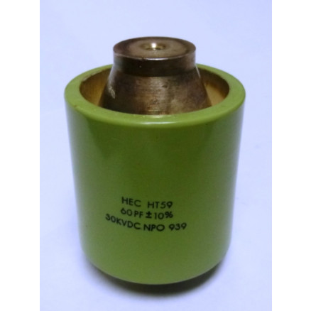 590060-30  Doorknob Capacitor, 60pf 30kv, High Energy (Clean Used) HEC