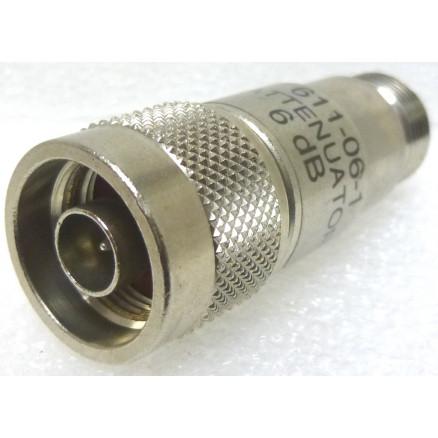 611-06-1 Fixed Attenuator, 6dB 2 w, Type-N Male/Female, Meca (Clean Used)