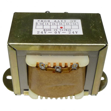 67-1483  Low voltage transformer, 117VAC/60cps 48vct, 1.5 amp, CES
