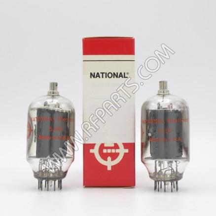 6JU6 National Beam Power Amplifier Tube Matched Pair (2) (NOS/NIB)
