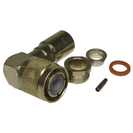 82-833 HN Male Clamp Connector, Right Angle, Cable Group E, Amphenol