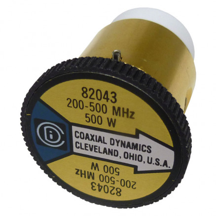 CD82043 wattmeter element,100-250mhz 500watt, Coaxial Dynamics