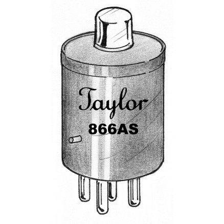 866AS  Solid state replacement for 866A, Small plate cap, Half Wave Mercury Vapor Rectifier