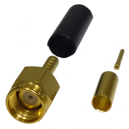 901-9511-3 SMA Male Crimp Connector, Cable Group B, Amphenol